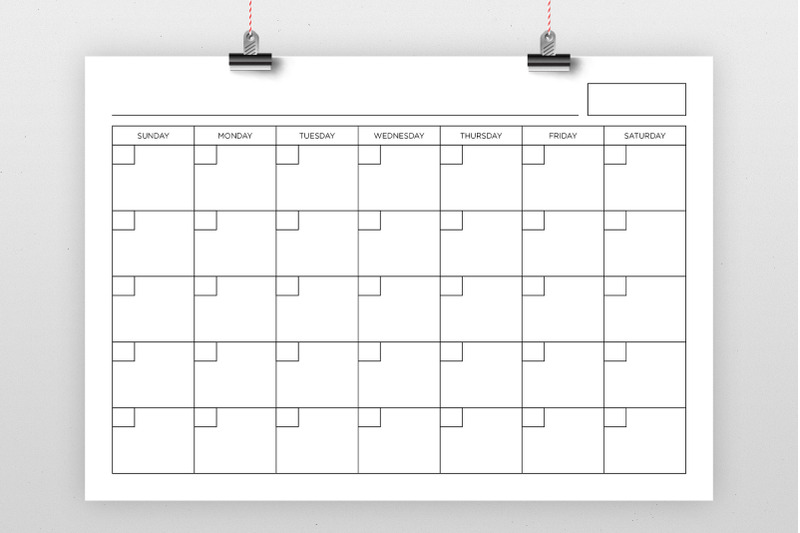 a4-blank-calendar-page-template