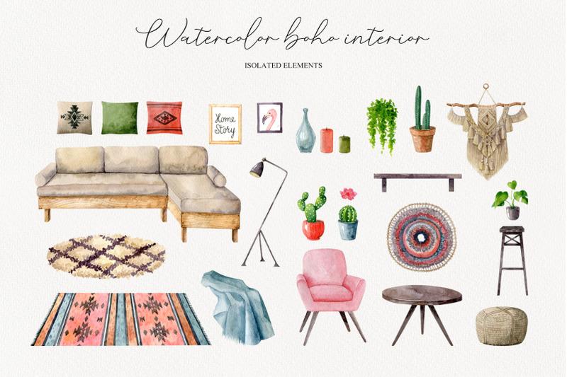 watercolor-boho-interior