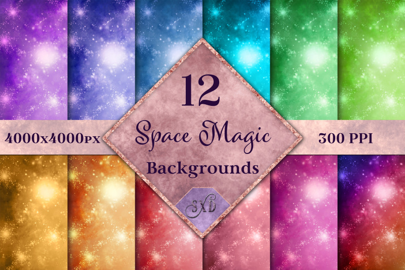 space-magic-backgrounds-12-image-textures-set