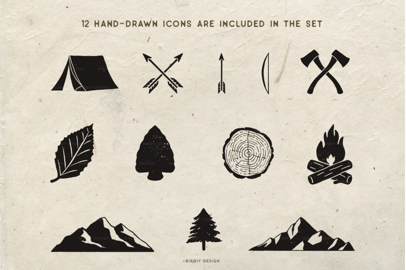 rustic-nature-icons-set