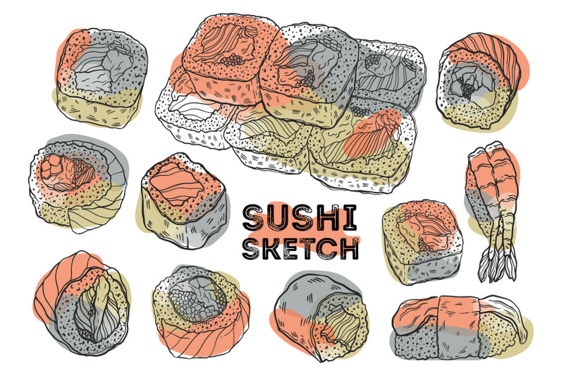 sushi-sketch-color-set