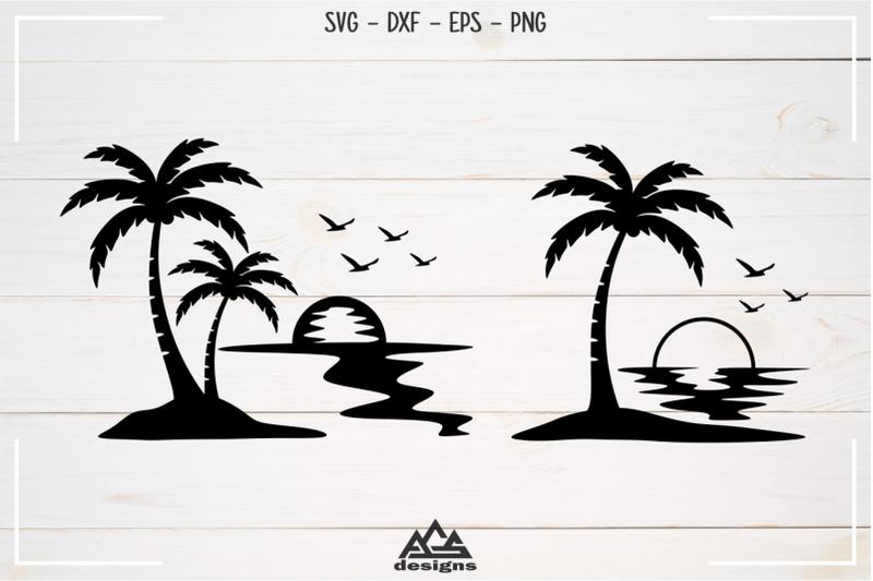 palm-tree-beach-sunset-svg-design