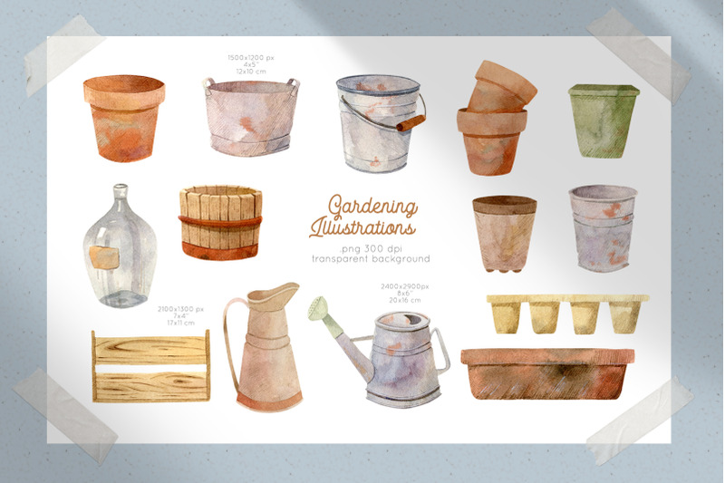 gardening-tools-watercolor-clipart