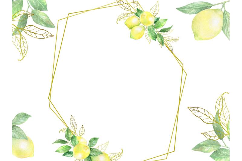 watercolor-digital-lemon-frame