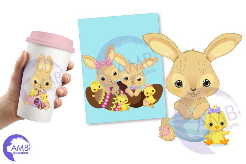 easter-bunnies-and-chicks-clipart-amb-2729