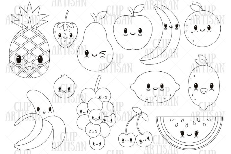 kawaii-fruit-cute-fruit-clipart-digital-stamp
