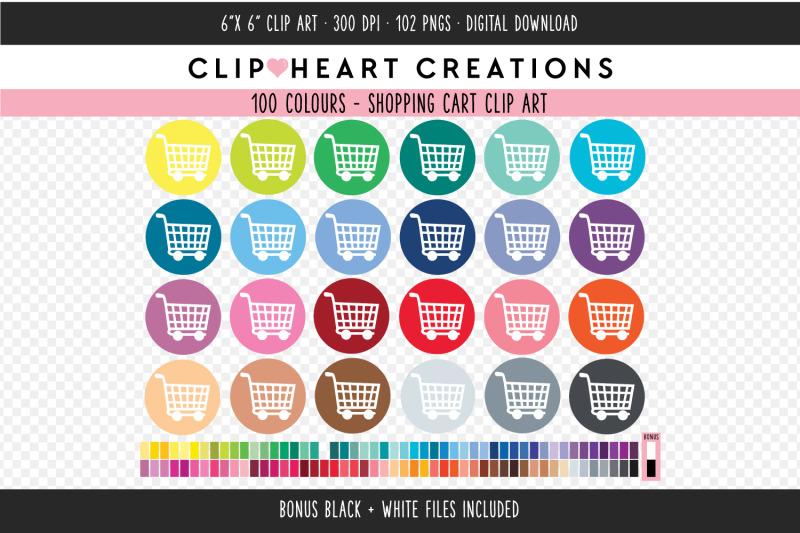 shopping-cart-clipart-100-colours