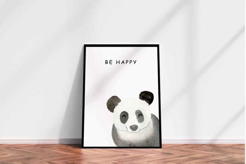 watercolor-panda