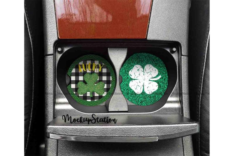 st-patrick-039-s-car-coaster-sublimation-template-bundle-shamrock-clipart