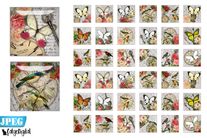birds-and-butterflies-square-printable-images-steampunk