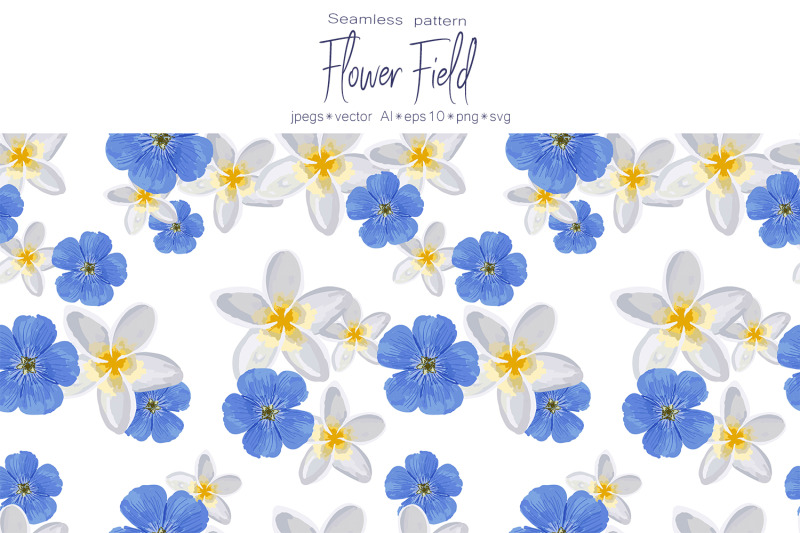 spring-set-quot-flower-field-quot-seamless-pattern-and-seamless-borders-with-f