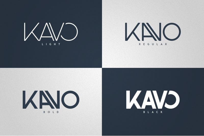 kavo-sans-serif-6-logo-templates