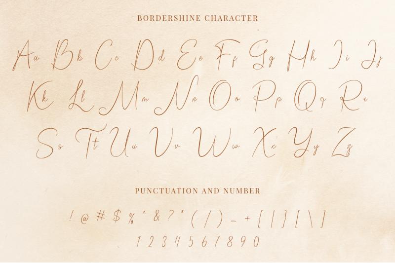 bordershine-script