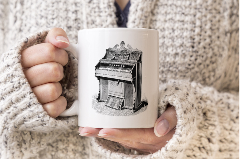 music-chicago-cottage-organ-vintage-clipart-graphics