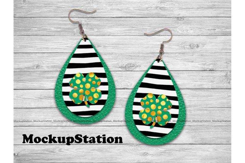 st-patrick-039-s-drop-earring-sublimation-design-bundle-clover-png