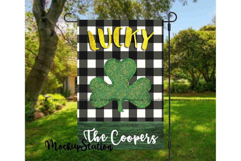 st-patrick-039-s-lucky-clover-garden-flag-sublimation-design-shamrock