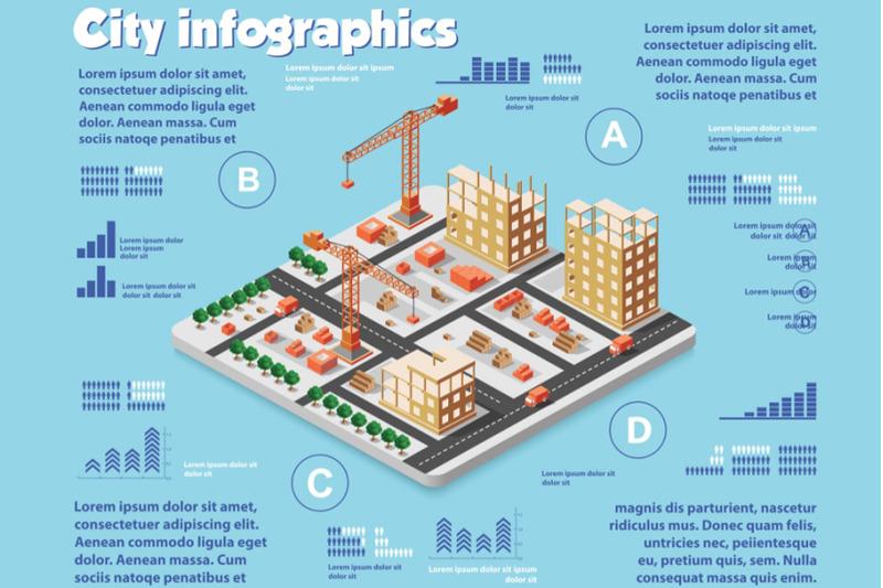isometric-set-infographics-concept