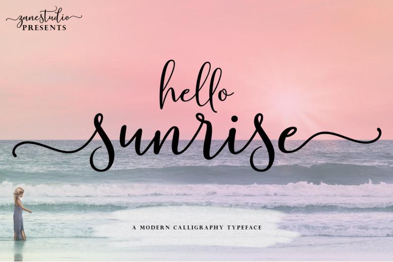 hello-sunrise-script