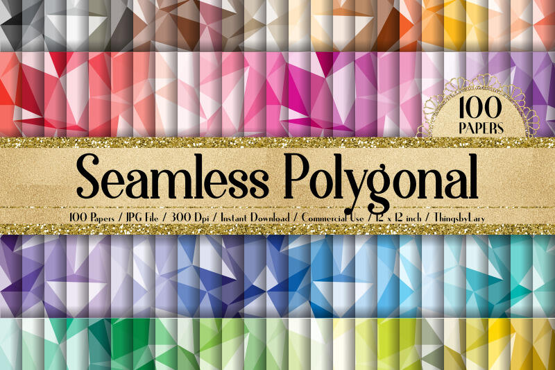 100-seamless-abstract-polygonal-geometric-digital-papers