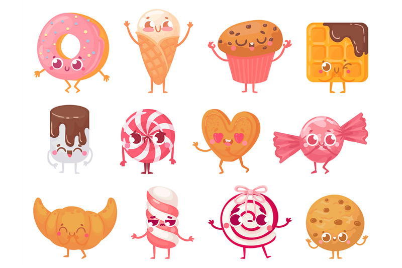 cute-sweets-happy-cupcake-mascot-funny-sweet-candy-character-and-smi