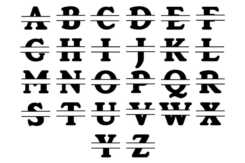 split-monogram-alphabet-svg-split-monogram-letters-svg-cut-files