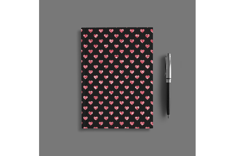 100-seamless-black-and-glitter-heart-valentine-digital-papers