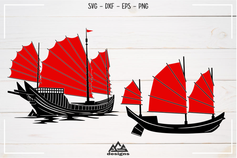 chinese-traditional-ship-junk-boat-svg-design