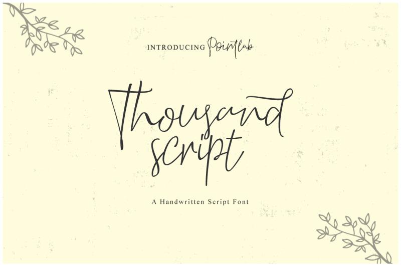 thousand-script