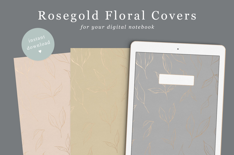 floral-digital-notebook-cover-rose-gold-foil-6-colours-goodnotes-cov