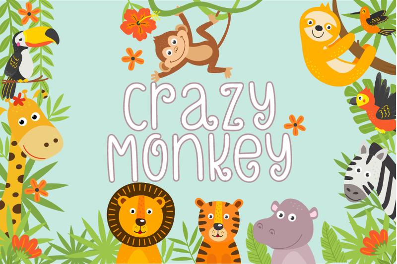 crazy-monkey-curly-font-lovesvg