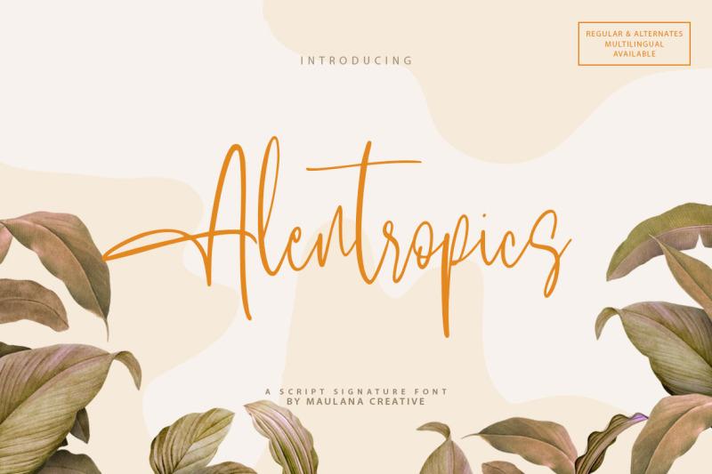 alentropics-script-signature-font
