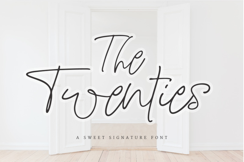 the-twenties-a-sweet-signature-font