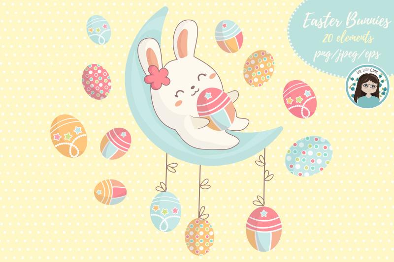 easter-kawaii-bunnies