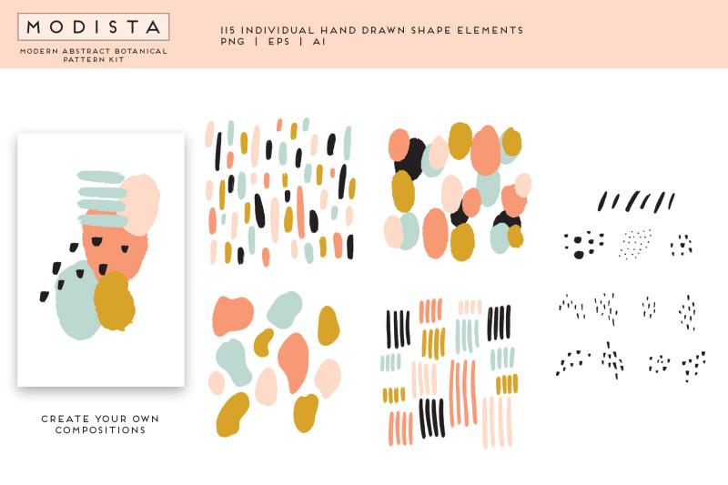 modista-abstract-botanical-surface-pattern-kit