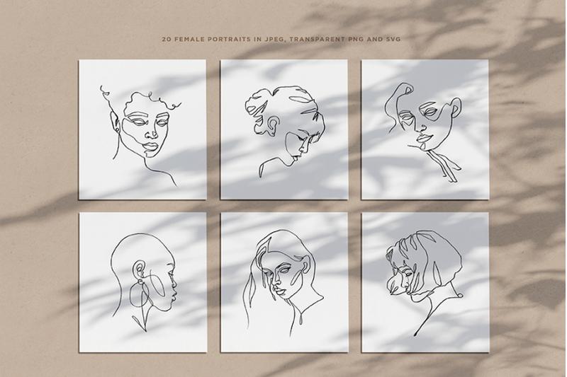 minimalist-one-line-female-portraits