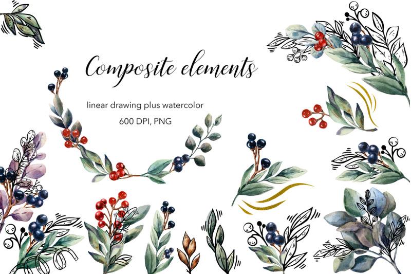 cold-flowers-vector-amp-watercolor-clip-art-set