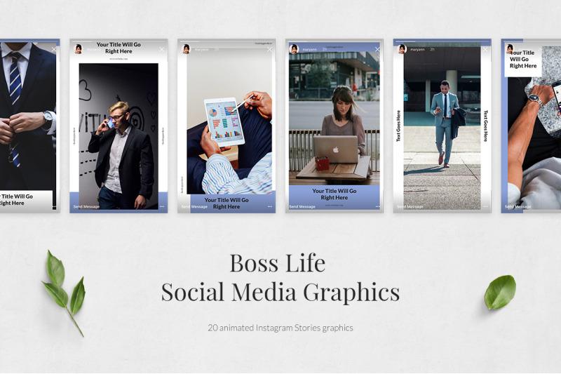 boss-life-animated-instagram-stories