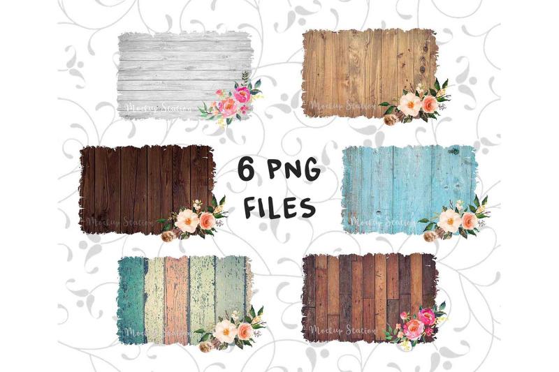 sublimation-background-png-bundle-wood-frame-clip-art