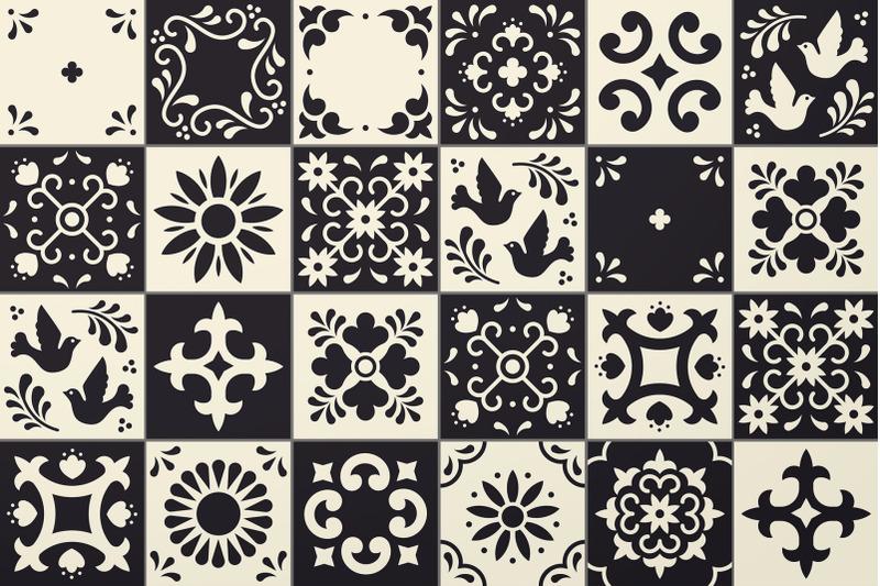 mexican-talavera-tiles-patterns-set