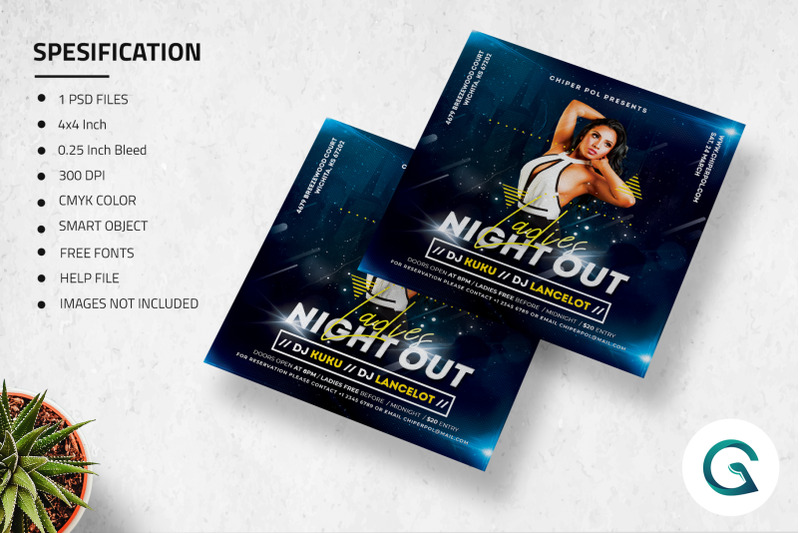 ladies-night-out-flyer-template
