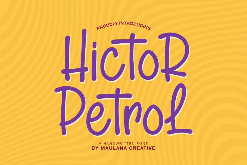 hictor-petrol-handwritten-sans-serif-font