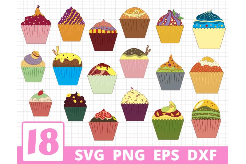 cupcakes-svg-bundle-cupcake-cricut-cake-clipart