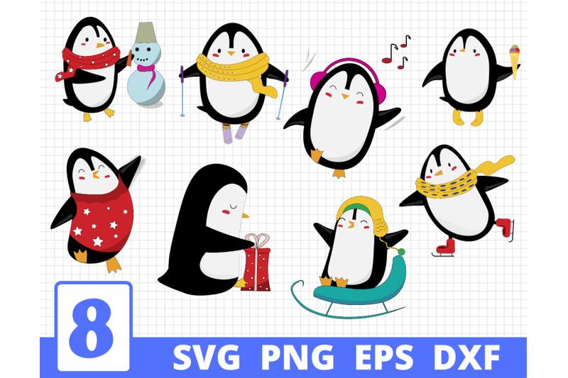 penguins-svg-bundle-penguins-clipart-penguin-cut-file