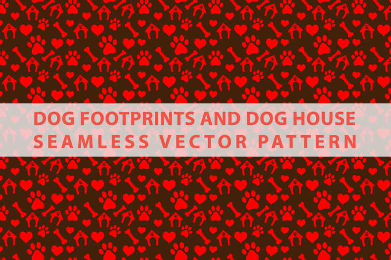 dog-footprints-and-dog-house-seamless-vector-pattern