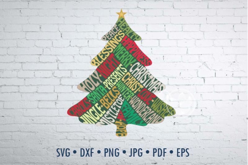 christmas-tree-shape-word-art-svg-png-jpg-dxf