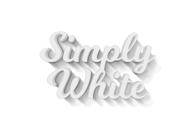 simply-white-3d-text-effect-template
