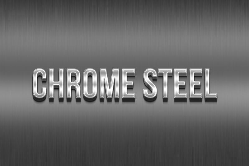 chrome-steel-3d-text-effect-template