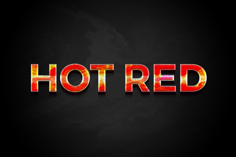 hot-red-3d-text-effect-template