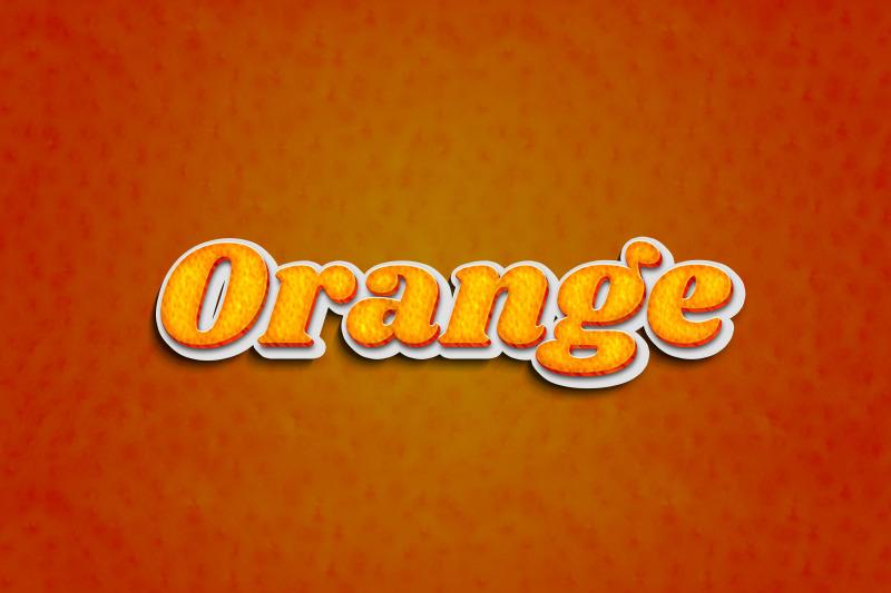 orange-3d-text-effect-template