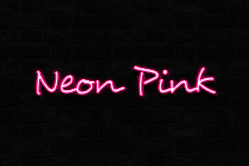 neon-pink-3d-text-effect-template